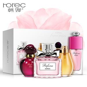 韩婵经典香氛女士香水组合花果淡香调持久清新魅惑彩妆香水化妆品