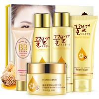 韩婵蜂胶嫩滑补水五件套 面部套装保湿活肤 化妆品 护肤套装